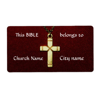 Christian Cross Ownership Labels