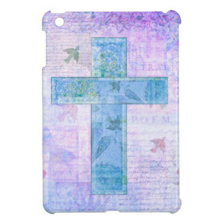 Christian Cross Painting nature butterflies birds iPad Mini Cases