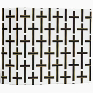 Christian cross pattern 3 ring binder