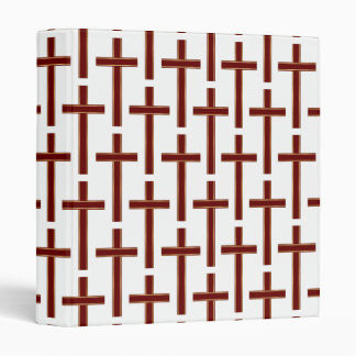 Christian cross pattern vinyl binders