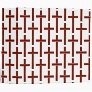 Christian cross pattern binder