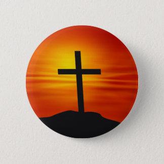 CHRISTIAN CROSS PINBACK BUTTON