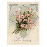 Christian Cross Pink Daisy Postcards