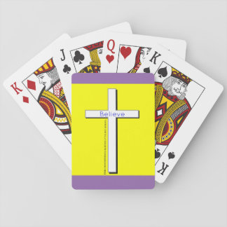 Christian Cross playing cards