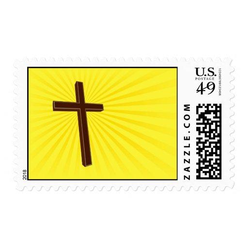 Christian Cross postage stamp