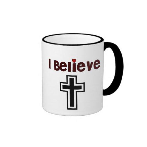 Christian Cross Ringer Mug