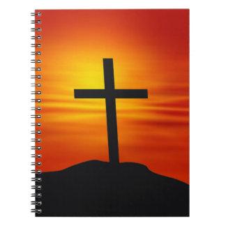 CHRISTIAN CROSS SPIRAL NOTEBOOK