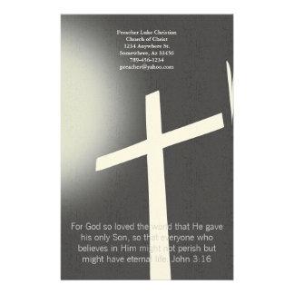 Christian Cross Stationery On Black