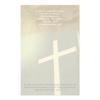 Christian Cross Stationery On Grey