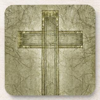 Christian Cross Symbol Artwork Drink Coaster