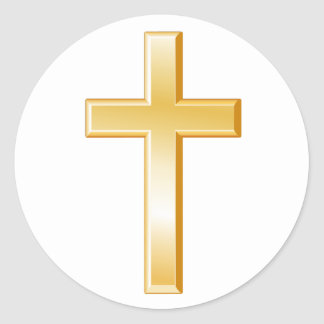 Christian Cross Symbol Classic Round Sticker