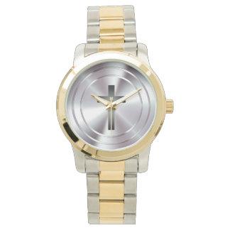 Christian Cross Symbol | silver chrome Watch