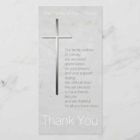Christian Cross Sympathy Thank You matching Stamp
