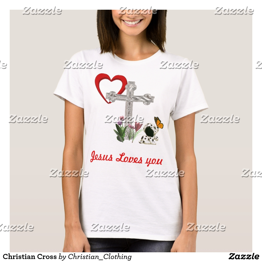 Christian Cross T-Shirt - Best Selling Long-Sleeve Street Fashion Shirt Designs