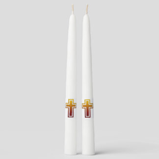Christian Cross Taper Candle