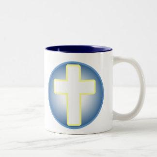 Christian Cross Two-Tone Coffee Mug