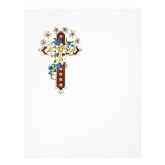 Christian Cross With Flowers Halo Flyer