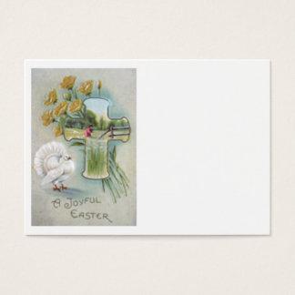 Christian Cross Yellow Rose Turkey Field Business Card