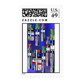 Christian Crosses Multi-Color Postage Stamp