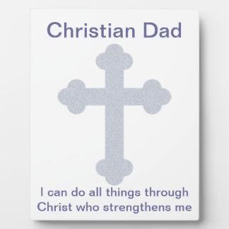 Christian Dad Plaque
