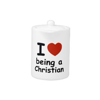 christian design teapot