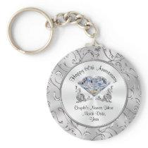 Christian Diamond 60th Anniversary Party Favors Keychain