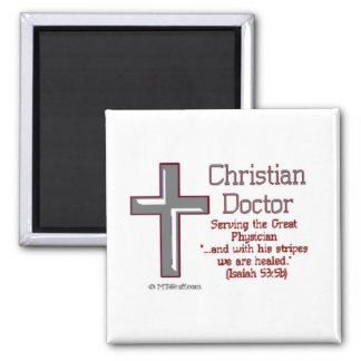 Christian Doctor 2 Inch Square Magnet