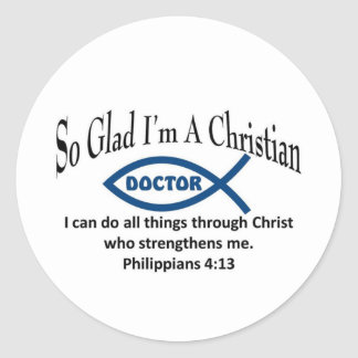 Christian Doctor Classic Round Sticker