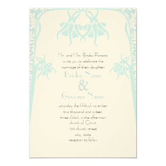 Christian Dusty Blue Flower Wedding Invitations