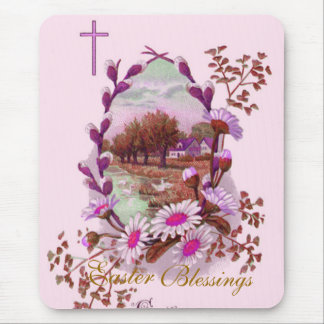 Christian Easter Blessings Mouse Pad
