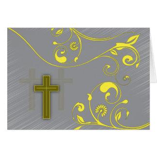 Christian Easter card ~ Easter cross