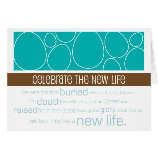 Christian Easter card ~ New Life
