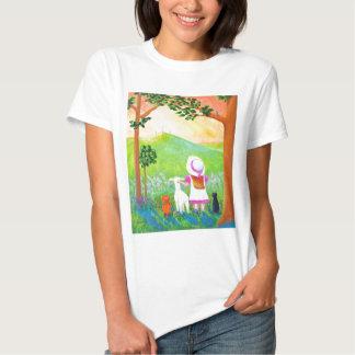 Christian Easter Girl Cats Cross Creationarts T-shirt