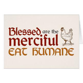 "Christian ""Eat Humane"" Folded Card"