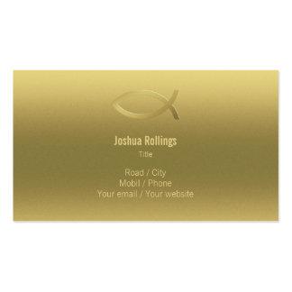 Christian - Elegant Gold Business Card
