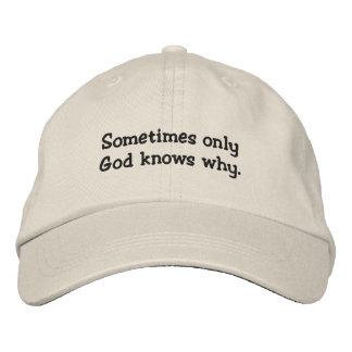 Christian Embroidered Hat