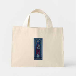 Christian embroidery mini tote bag
