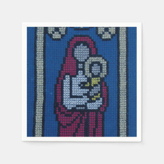 Christian embroidery paper napkins