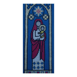 Christian embroidery rack card