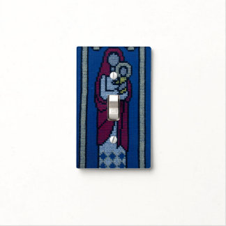 Christian embroidery switch plate cover