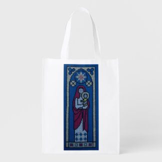 Christian embroidery grocery bags