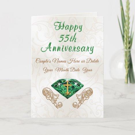 Christian Emerald 55th Wedding Anniversary Cards
