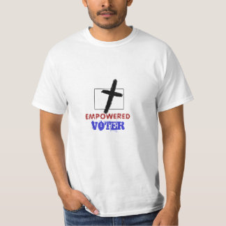 Christian Empowered Voter T shirt Voting Cross
