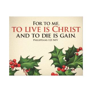 Christian encouragement canvas print