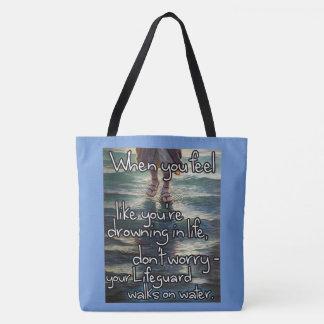 Christian Encouragement Design Tote Bag