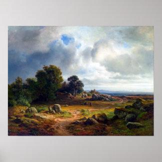 Christian Ernst Bernhard Morgenstern Landscape Poster