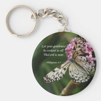 Christian Faith Art ~ Philippians 4:5 Basic Round Button Keychain
