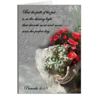 Christian Faith Art ~ Proverbs 4:18 ~ Path Card
