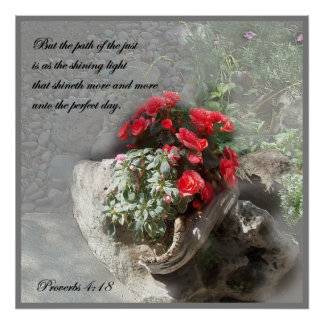 Christian Faith Art ~ Proverbs 4:18 ~ Path Poster