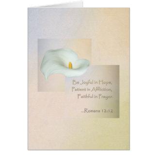 Christian Faith Art ~ Romans 12:12 Card